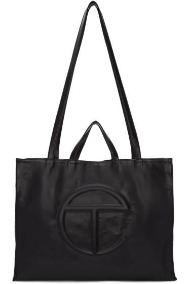 Telfar - Black Large Logo Tote Bag