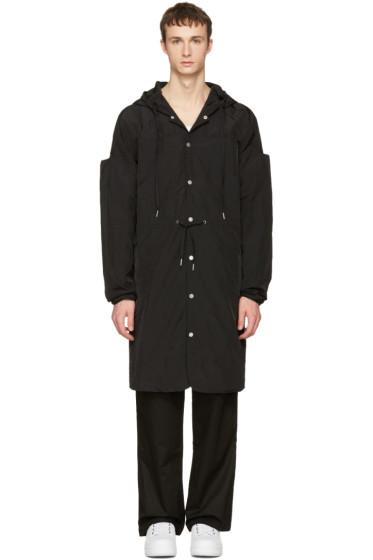 Telfar - Black Nylon Hooded Coat
