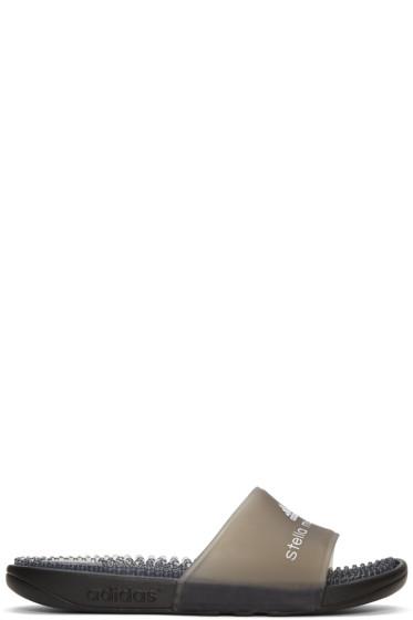 adidas by Stella McCartney - Black Adissage Slide Sandals