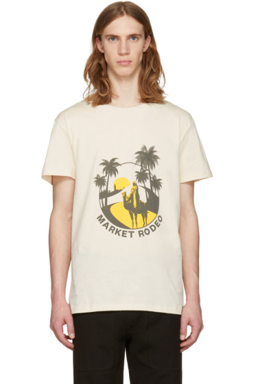 CMMN SWDN - Beige Boyd Print T-Shirt