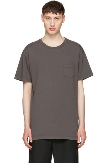 John Elliott - Grey Oversized Pocket T-Shirt