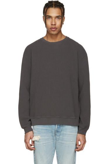 John Elliott - Grey Oversized Thermal Shirt