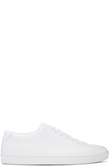 John Elliott - White Leather Low Sneakers