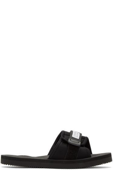 Suicoke - ブラック パドリ スライド サンダル