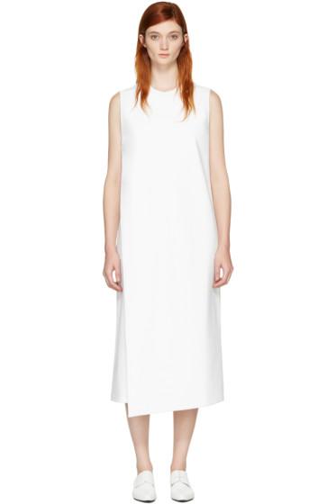 Hyke - ホワイト フォールドオーバー パネル ドレス