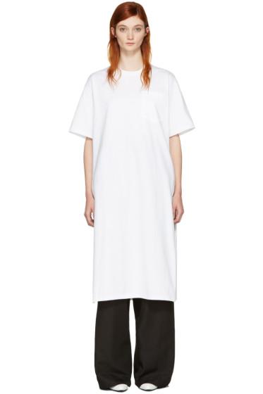 Hyke - ホワイト ポケット T シャツ ドレス