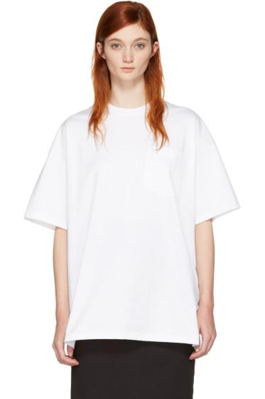 Hyke - ホワイト ビッグ T シャツ