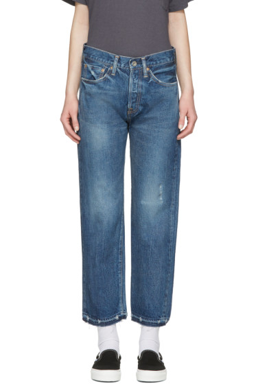 Chimala - Blue Selvedge Used Ankle Cut Jeans
