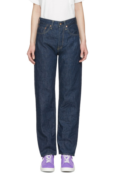 Chimala - Blue Unisex Selvedge Deep Rise Jeans