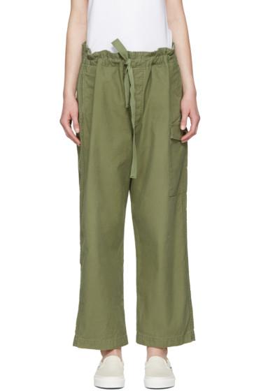 Chimala - Green Drawstring Cargo Pants