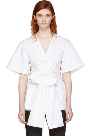 Ellery - White Spring Break Blouse