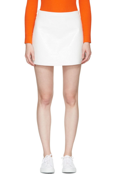 Courrèges - Off-White Vinyl Iconic Miniskirt