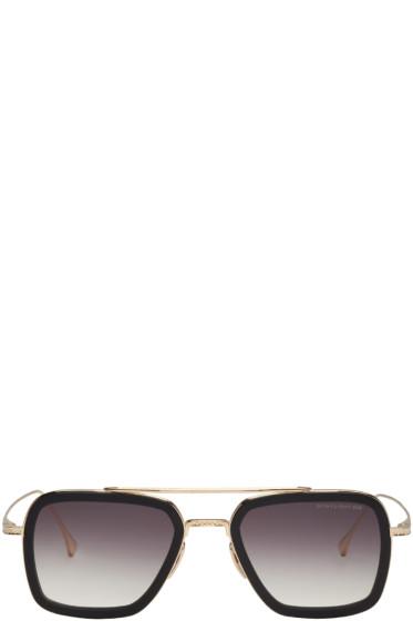 Dita - Black & Gold Flight.006 Aviator Sunglasses