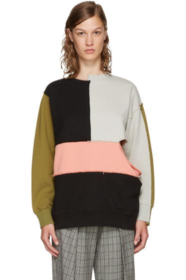 Perks and Mini - Multicolor Complex Split Sweatshirt