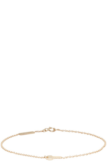 Lauren Klassen - Gold Tiny Key Bracelet