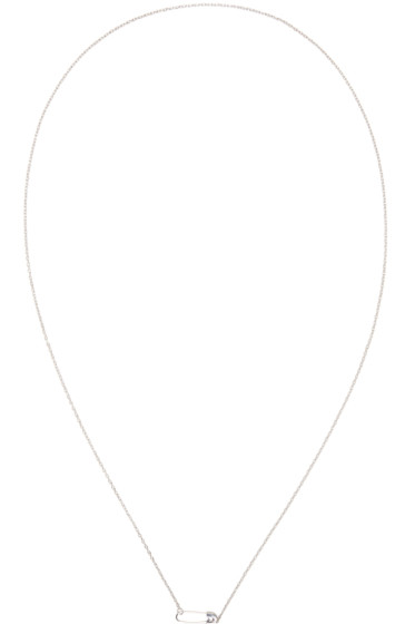 Lauren Klassen - SSENSE Exclusive Silver Tiny Safety Pin Necklace