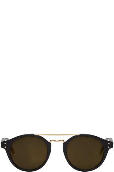 Bottega Veneta - Black Retro Pantos Sunglasses