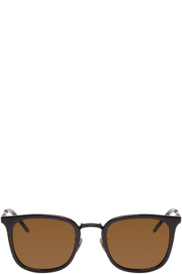 Bottega Veneta - Black Square Sunglasses
