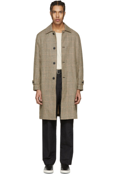 Our Legacy - Beige Houndstooth Classic Car Coat