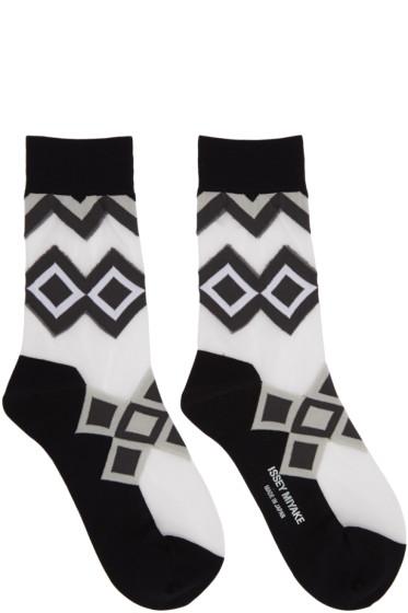 Issey Miyake - Black Half Sheer Socks