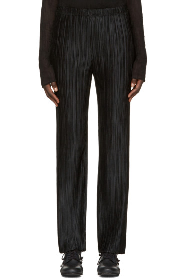 Issey Miyake - Black Pleated Trousers