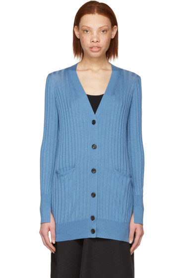 Cyclas - Blue Wide Rib Cardigan