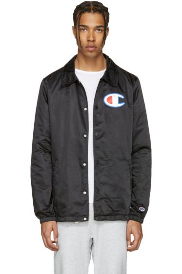Champion Reverse Weave - Black Coach Track Jacket