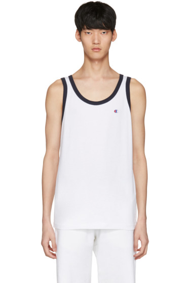 Champion Reverse Weave - White Logo Tank Top