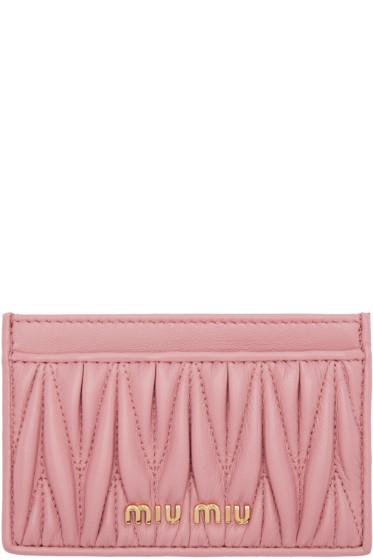 Miu Miu - Pink Matelassé Card Holder