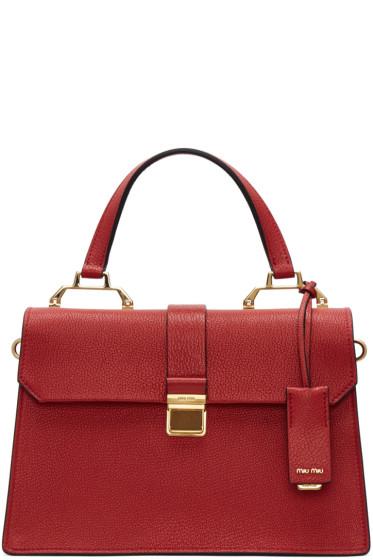 Miu Miu - Red Large Top Handle Bag
