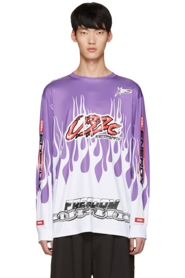 032c - Purple Flames Pullover