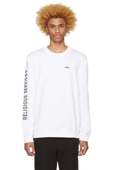 032c - White Religious Services Sweatshirt
