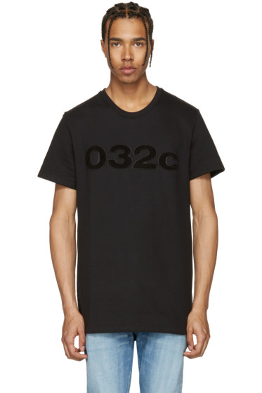 032c - Black 'The Believer' T-Shirt