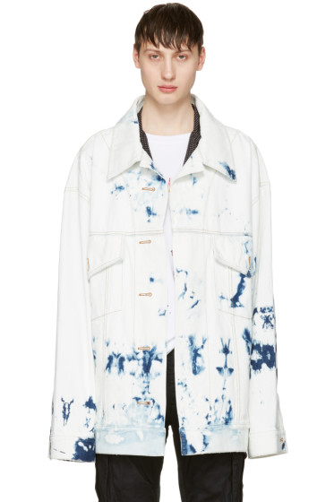 Faith Connexion - Indigo Oversized Tie-Dye Denim Jacket