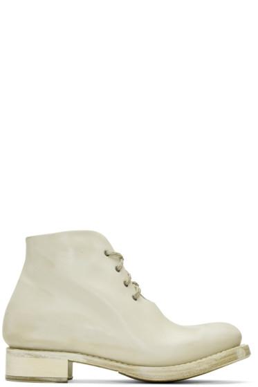Cherevichkiotvichki - Off-White One-Piece Goodyear Boots