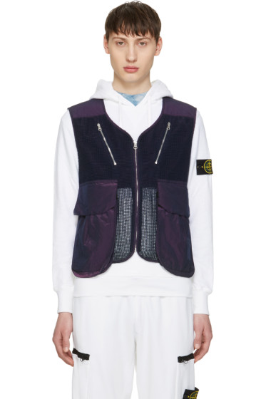 Stone Island Shadow Project - Blue Zip-Up Vest