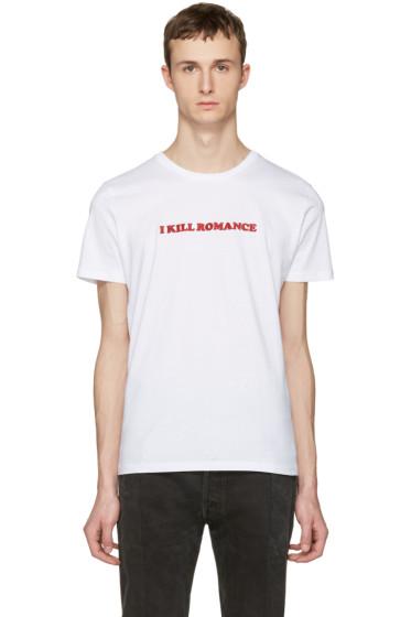 Nasaseasons - White 'I Kill Romance' T-Shirt