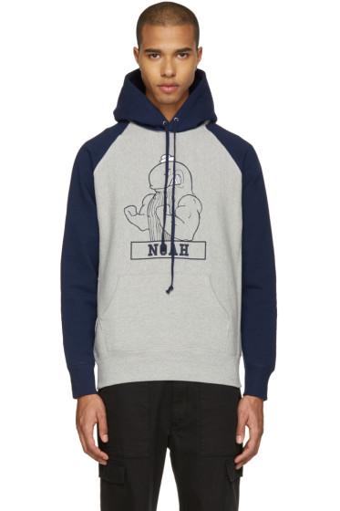 Noah NYC - Grey Fighting Whale Hoodie