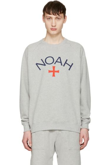 Noah NYC - グレー ロゴ プルオーバー