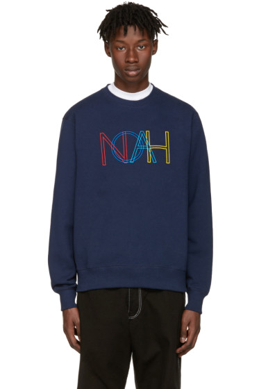 Noah NYC - Navy Colors Logo Pullover