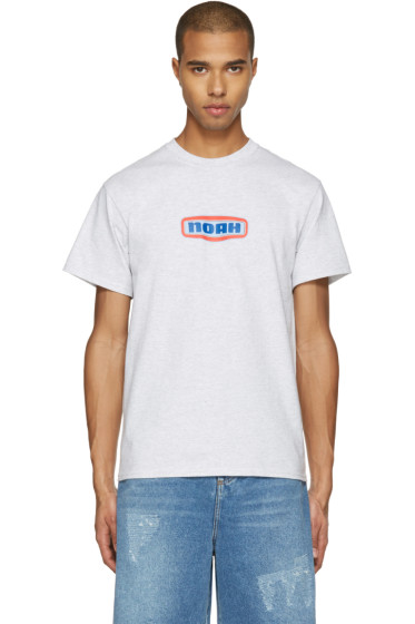 Noah NYC - Grey Gas Station Logo T-Shirt