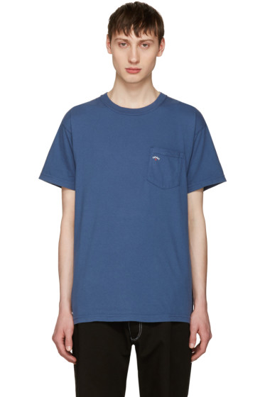 Noah NYC - Navy Pocket Logo T-Shirt
