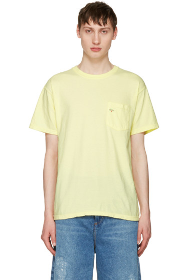 Noah NYC - Yellow Pocket Logo T-Shirt
