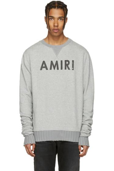 Amiri - Grey Logo Sweatshirt