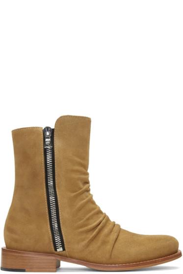 Amiri - Tan Stack Boots