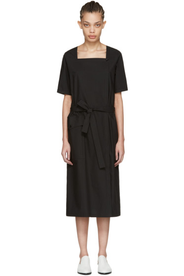 Moderne - Black Square Neck Dress