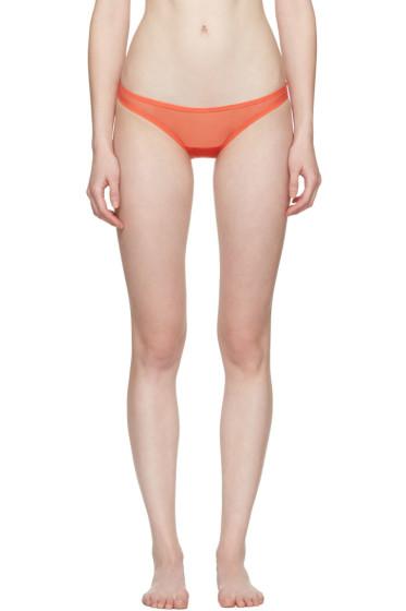 Yasmine Eslami - Orange Jeanne Mini Briefs