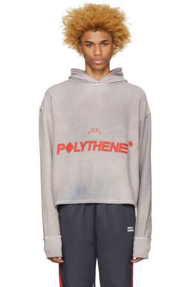 A-Cold-Wall* - Reversible Grey Logo Polythene Hoodie