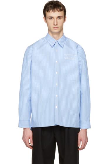 Martine Rose - ブルー ストライプ オーバーサイズ シャツ