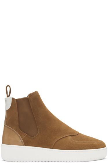 Aime Leon Dore - Brown Chelsea High-Top Sneakers